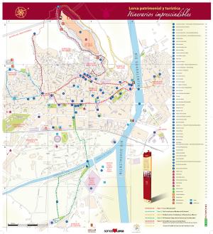 Plano Itinerario turistico ciudad de Lorca