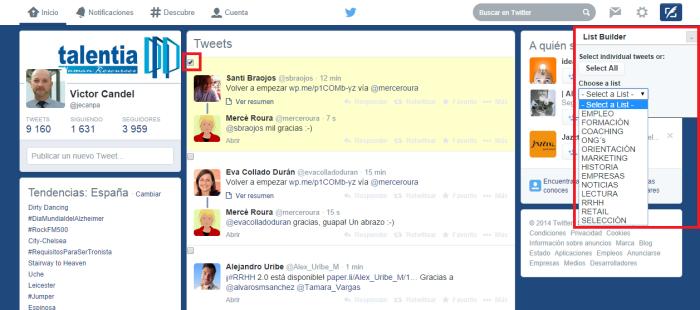 Captura List Builder for Twitter