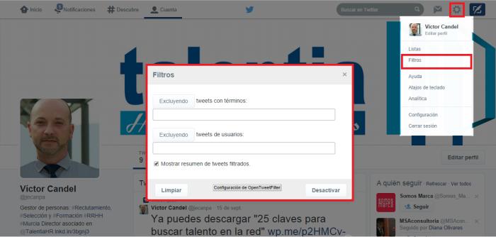 captura Open Tweet Filter