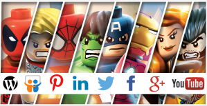redes sociales and superheroes