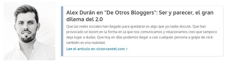 Guest Post Alejandro Duran