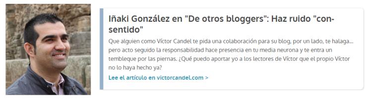 Guest Post Iñaki Gonzalez