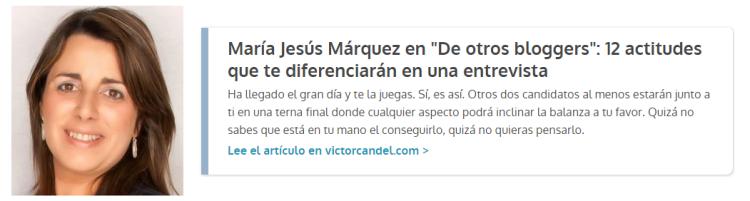 Guest Post Maria Jesus Marquez