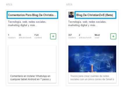 actividad de un blog