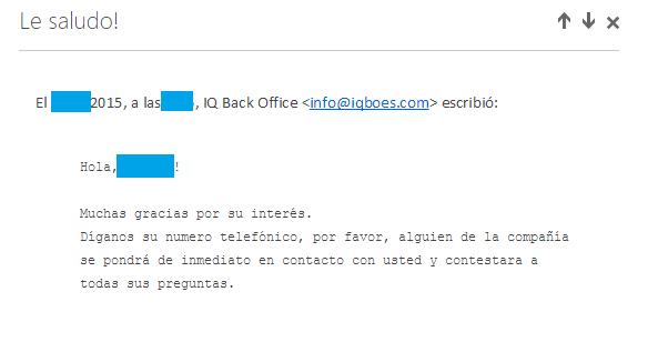Ofertas de empleo falsas - correo 3